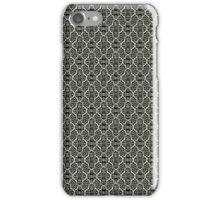 Ebony Elegant Damask Pattern iPhone Case/Skin