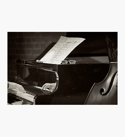 Grand Piano and Music Notes Photographic Print