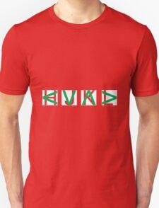 HJKL (Green Arrows + Text Transparency) Unisex T-Shirt