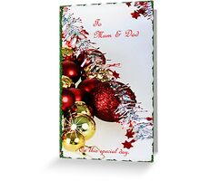 Christmas sparkle for Mum and Dad Greeting Card