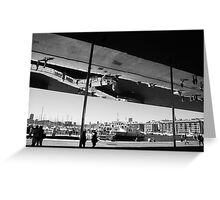 PORT VIEUX IN BW Greeting Card