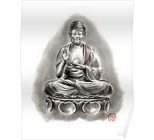 Buddha Medicine sumi-e tibetan calligraphy 禅 figure sculpture original ink painting artwork Poster