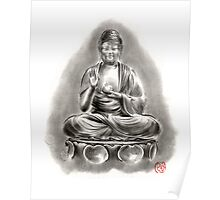 Buddha Medicine sumi-e tibetan calligraphy 禅 figure sculpture original ink painting artwork Poster