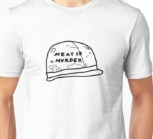 meat is murder (helmet only) Unisex T-Shirt