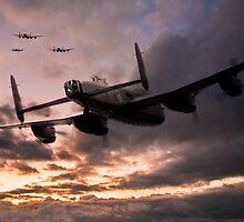 Lancasters Depart by J Biggadike