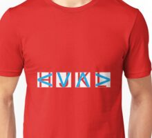 HJKL (Blue Arrows + Text Transparency) Unisex T-Shirt