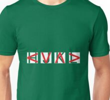 HJKL (Red Arrows + Text Transparency) Unisex T-Shirt