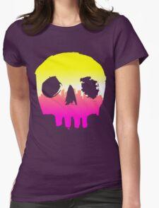 SKYLINE SKULL #1 Womens Fitted T-Shirt