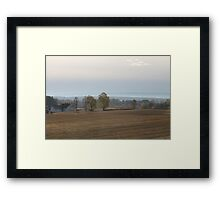 October afternoon. Hedmark, Norway. Photo taken from the bus. Framed Print