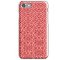 Red Elegant Damask Pattern iPhone Case/Skin