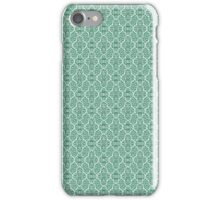Green Elegant Damask Pattern iPhone Case/Skin