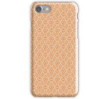 Orange Elegant Damask Pattern iPhone Case/Skin