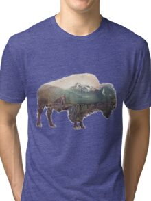 Bison and Independence Mine Tri-blend T-Shirt