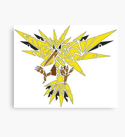 Tribal Zapdos Pokemon Canvas Print