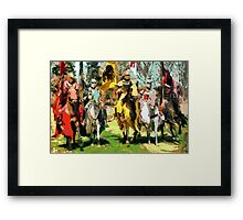 Mounted Knights in Scotland Framed Print