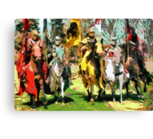 Mounted Knights in Scotland Canvas Print