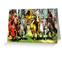 Mounted Knights in Scotland Greeting Card