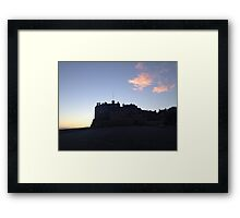 Edinburgh Castle. Dusk. Framed Print