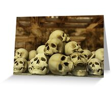 A Pile of Skulls Greeting Card