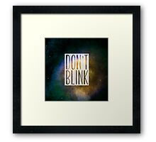Doctor Who - Don't Blink Framed Print