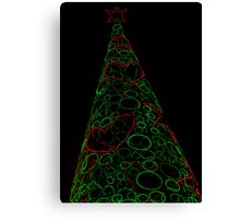 Christmas Tree in Lights Canvas Print