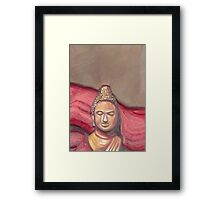 Oriental red part 2 Framed Print