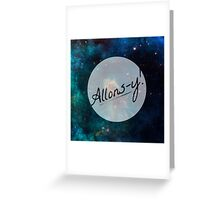 Doctor Who - Allons-y! Greeting Card
