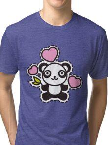 Panda_and_Hearts Tri-blend T-Shirt