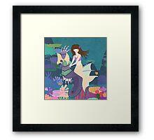 Tara and her Seahorse Framed Print