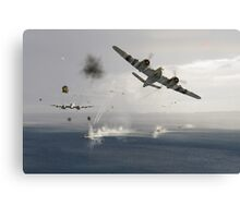 Beaufighters attacking E-boats Canvas Print