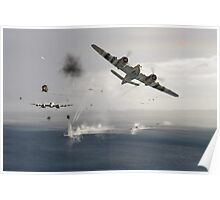Beaufighters attacking E-boats Poster