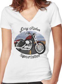 Harley Davidson Sportster Easy Rider Women's Fitted V-Neck T-Shirt