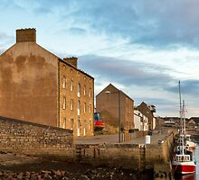 Burghead boats at sundown. by JASPERIMAGE