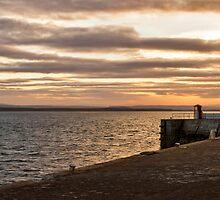Burghead harbour, November sunset. by JASPERIMAGE