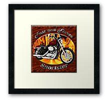 Harley Davidson Sportster Fast and Fierce Framed Print