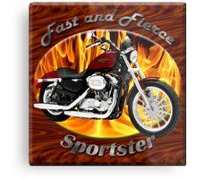 Harley Davidson Sportster Fast and Fierce Metal Print