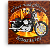 Harley Davidson Sportster Fast and Fierce Metal Print