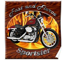 Harley Davidson Sportster Fast and Fierce Poster