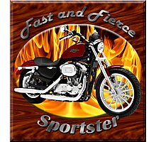 Harley Davidson Sportster Fast and Fierce Photographic Print