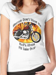Harley Davidson Heaven Don't Want Me Women's Fitted Scoop T-Shirt