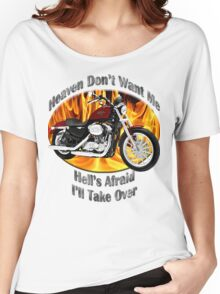 Harley Davidson Heaven Don't Want Me Women's Relaxed Fit T-Shirt