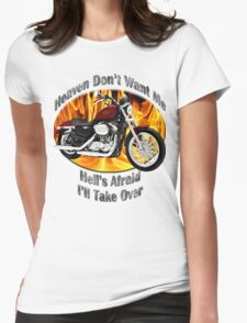 Harley Davidson Heaven Don't Want Me Womens Fitted T-Shirt