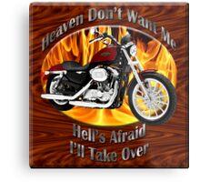 Harley Davidson Heaven Don't Want Me Metal Print
