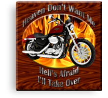 Harley Davidson Heaven Don't Want Me Canvas Print