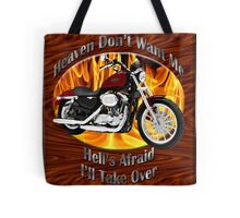 Harley Davidson Heaven Don't Want Me Tote Bag