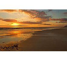 A Goldern Bass Strait Sunset Photographic Print