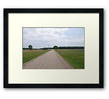 Desolate Road Framed Print