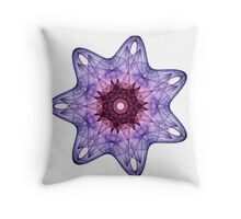 Amethyst Crystal Throw Pillow