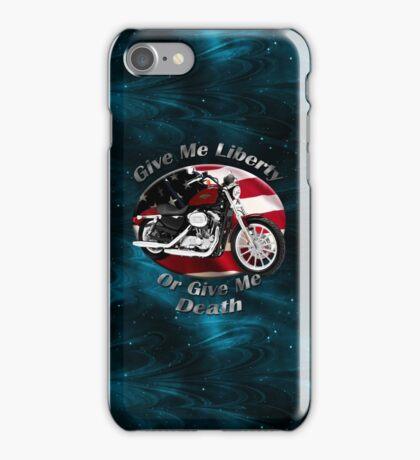 Harley Davidson Sportster Give Me Liberty iPhone Case/Skin