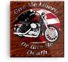 Harley Davidson Sportster Give Me Liberty Metal Print